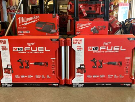 Milwaukee tools display